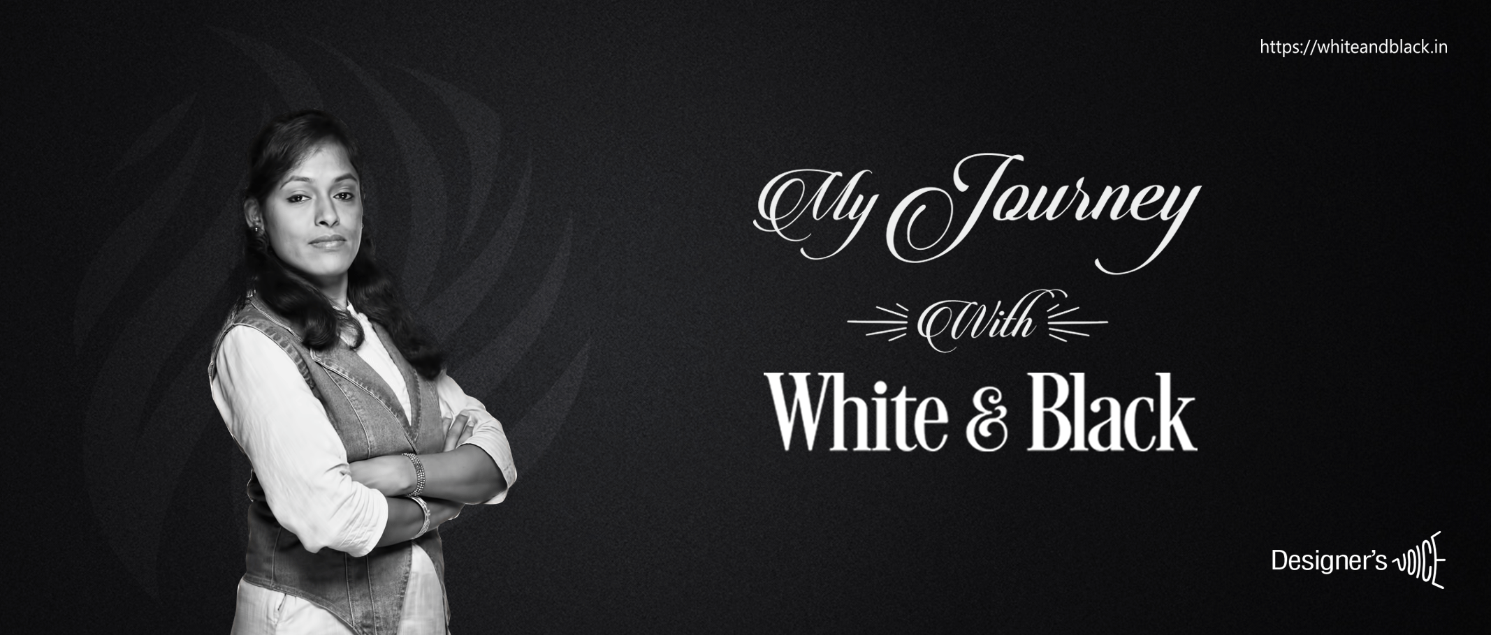 employee sharing experience about her journey with white and black