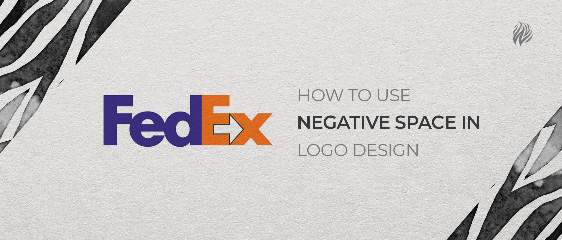 How to use negative space in logo design